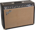 Musical Instruments:Amplifiers, PA, & Effects, 1965 Fender Vibrolux Reverb Black Guitar Amplifier, Serial #A02565....