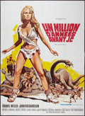 "Movie Posters:Fantasy, One Million Years B.C. (20th Century Fox, 1966). French Grande (47""X 63""). Fantasy.. ..."