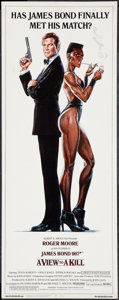 "Movie Posters:James Bond, A View to a Kill (United Artists, 1985). Insert (14"" X 36""). James Bond.. ..."