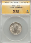 Standing Liberty Quarters: , 1917 25C Type One -- Cleaned -- ANACS. AU58 Details. NGC Census:(123/1130). PCGS Population (272/1566). Mintage: 8,740,000...