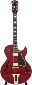 Musical Instruments:Electric Guitars, 2000s Gibson L-4CES Wine Red Semi-Hollow Electric Guitar, Serial#23093006. ...