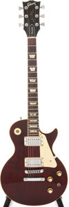 Musical Instruments:Electric Guitars, 1977 Gibson Les Paul Wine Red Electric Guitar, Serial #73467587....