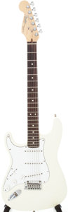 Musical Instruments:Electric Guitars, 1993 Fender Stratocaster Olympic White Lefty Electric Guitar,Serial # N387303....