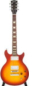 Musical Instruments:Electric Guitars, 2007 Les Paul DC Cherry Sunburst Electric Guitar, Serial # 007271327....