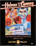 Boxing Collectibles:Autographs, LeRoy Neiman And Larry Holmes Dual Signed Fight Poster....