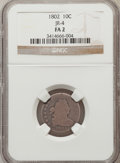 Early Dimes: , 1802 10C Fair 2 NGC. JR-4. NGC Census: (5/30). PCGS Population(4/55). Mintage: 10,975. Numismedia Wsl. Price for problem ...