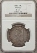 Bust Half Dollars, 1817 50C Fine 12 NGC. O-111a. NGC Census: (14/374). PCGS Population(10/525). Mintage: 1,215,567. Numismedia Wsl. Price for...
