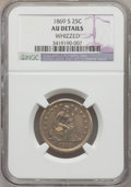 Seated Quarters: , 1869-S 25C -- Whizzed -- NGC Details. AU. NGC Census: (4/7). PCGSPopulation (1/11). Mintage: 76,000. Numismedia Wsl. Price...