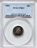 Proof Barber Dimes: , 1895 10C PR63 PCGS. PCGS Population (51/164). NGC Census: (26/205).Mintage: 880. Numismedia Wsl. Price for problem free NG...