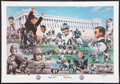 Football Collectibles:Photos, Chicago Bears 75th Anniversary Artist's Proof Lithograph....