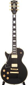 Musical Instruments:Electric Guitars, 1978 Gibson Les Paul Custom Left-Handed Black Electric Guitar,Serial # 70978003....