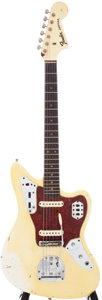 Musical Instruments:Electric Guitars, 1964 Fender Jaguar Olympic White Electric Guitar, Serial #L23631....