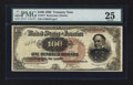 Large Size:Treasury Notes, Fr. 377 $100 1890 Treasury Note PMG Very Fine 25.. ...