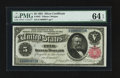 Large Size:Silver Certificates, Fr. 267 $5 1891 Silver Certificate PMG Choice Uncirculated 64 EPQ.. ...