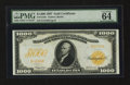 Large Size:Gold Certificates, Fr. 1219e $1000 1907 Gold Certificate PMG Choice Uncirculated 64.....