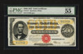 Large Size:Gold Certificates, Fr. 1217 $500 1922 Gold Certificate PMG About Uncirculated 55 EPQ.. ...