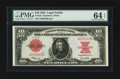 Large Size:Legal Tender Notes, Fr. 123 $10 1923 Legal Tender PMG Choice Uncirculated 64 EPQ.. ...