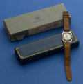 Timepieces:Wristwatch, Hamilton 14k White Gold Piping Rock With Boxes & Paper. ...