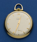 Timepieces:Pocket (post 1900), Cartier By Movado Gent's 14k Gold Pocket Watch. ...