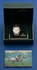 Timepieces:Wristwatch, Rolex Ref. 16200 Gent's Steel Datejust For Repair, circa 1989. ...