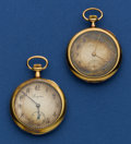 Timepieces:Pocket (post 1900), Two Longines 18k Gold Pendant Watches. ...