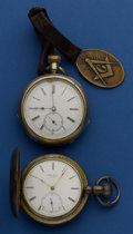 Timepieces:Pocket (post 1900), Two Swiss 18 Size Pocket Watches. ... (Total: 2 Items)
