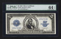 Large Size:Silver Certificates, Fr. 282 $5 1923 Silver Certificate PMG Choice Uncirculated 64 EPQ.. ...
