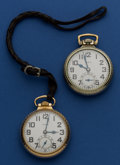 Timepieces:Pocket (post 1900), Two Elgin's B.W. Raymond's 21 Jewel Pocket Watches Runners. ... (Total: 2 Items)