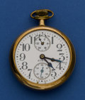 Timepieces:Pocket (pre 1900) , Elgin 19 Jewel B.W. Raymond 16 Size Wind Indicator. ...