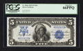 Large Size:Silver Certificates, Fr. 280 $5 1899 Mule Silver Certificate PCGS Gem New 66PPQ.. ...