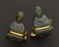 Estate Jewelry:Cufflinks, Gold & Jade Cufflinks. ...