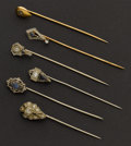 Estate Jewelry:Stick Pins and Hat Pins, Six Antique Diamond Stickpins. ... (Total: 6 Items)