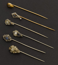 Six Antique Diamond Stickpins