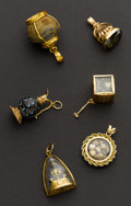 Estate Jewelry:Other , Six Interesting Charms. ... (Total: 6 Items)