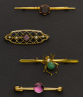Estate Jewelry:Brooches - Pins, Four Vintage Pins. ... (Total: 4 Items)