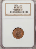 Indian Cents: , 1876 1C MS65 Red and Brown NGC. NGC Census: (190/26). PCGSPopulation (64/1). Mintage: 7,944,000. Numismedia Wsl. Price for...
