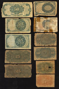 Fractional Currency:Second Issue, An Assortment of Eleven Fractional Notes. About Good or Better.. ... (Total: 11 notes)