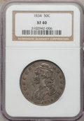 Bust Half Dollars: , 1834 50C Large Date, Large Letters XF40 NGC. NGC Census: (96/1772).PCGS Population (65/839). Mintage: 6,412,004. Numismedi...