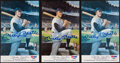 Baseball Collectibles:Others, Mickey Mantle Signed Postcards Lot of 3. ...