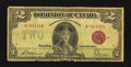 Canadian Currency: , DC-26e $2 1923 Very Good.. ...