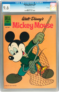 Silver Age (1956-1969):Cartoon Character, Mickey Mouse #84 File Copy (Dell, 1962) CGC NM+ 9.6 Cream tooff-white pages....