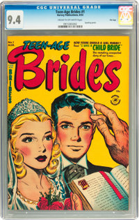 Teen-Age Brides #1 File Copy (Harvey, 1953) CGC NM 9.4 Cream to off-white pages