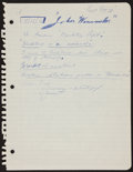 Football Collectibles:Others, Ernie Davis Handwritten, Signed Schoolwork. ...