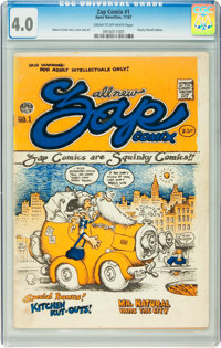 Zap Comix #1 First Printing - Plymell (Apex Novelties, 1967) CGC VG 4.0 Cream to off-white pages