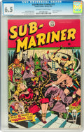 Golden Age (1938-1955):Superhero, Sub-Mariner Comics #13 (Timely, 1944) CGC FN+ 6.5 Off-white to white pages....