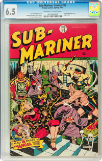 Sub-Mariner Comics #13 (Timely, 1944) CGC FN+ 6.5 Off-white to white pages
