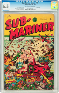 Sub-Mariner Comics #14 (Timely, 1944) CGC FN+ 6.5 Off-white to white pages