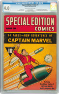 Golden Age (1938-1955):Superhero, Special Edition Comics #1 (Fawcett, 1940) CGC VG 4.0 Cream to off-white pages....