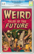 Golden Age (1938-1955):Science Fiction, Weird Tales of the Future #2 (Aragon, 1952) CGC GD/VG 3.0 Cream tooff-white pages....