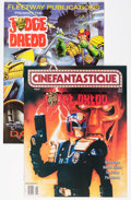 Memorabilia:Movie-Related, Judge Dredd Movie Related (Various Publishers, 1990-95) Condition:Average VF/NM.... (Total: 3 Items)